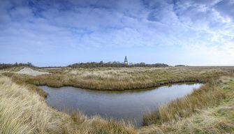 Op deze foto zie je Nationaal Park Schiermonnikoog