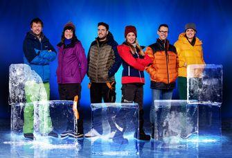 Een foto van de 6 deelnemers aan IJsmeesters van Viktor Brand