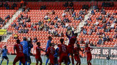 De KNVB is boos dat de pilot met publiek bij voetbalwedstrijden niet doorgaan