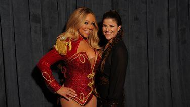 Delphine D'hondt met Mariah Carey. Foto: Delphine D'hondt