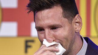 Lionel Messi in tranen
