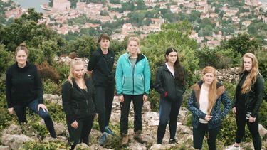 Een foto van Geraldine Kemper en de vrouwen van haar serie