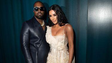 Foto van Kanye West en Kim Kardashian
