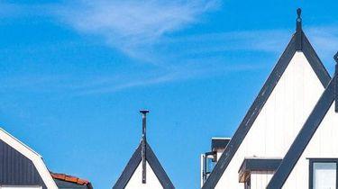 Een foto van daken van huizen