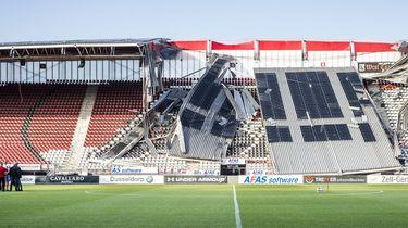 Deel van dak AZ-stadion ingestort, geen gewonden