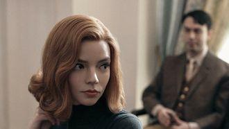 Een foto van The Queens Gambit, de hit van Netflix