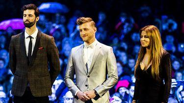 De drie finalisten van Wie is de Mol. (Foto: ANP)