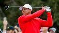 Een foto van Tiger Woods die golft