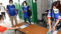 Een foto van maatregelen voor voetbalsupporters in Japan.