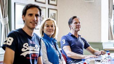 Formatiepuzzel gaat verder. Wopke Hoekstra (CDA), Sigrid Kaag (D66) en Mark Rutte (VVD).