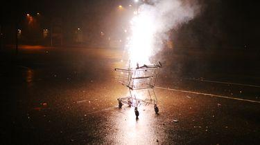 foto van branden winkelwagentje