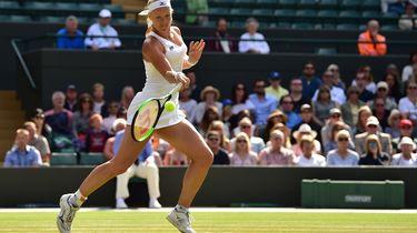 Kiki Bertens niet naar halve finale Wimbledon