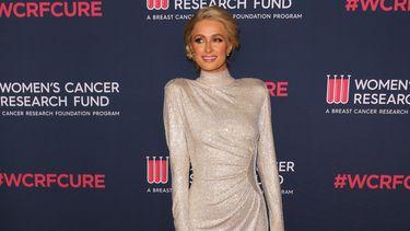 Op deze foto is realityster en onderneemster Paris Hilton te zien.