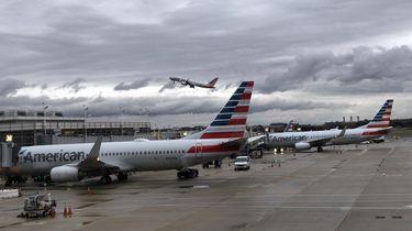 Een toestel van American Airlines.