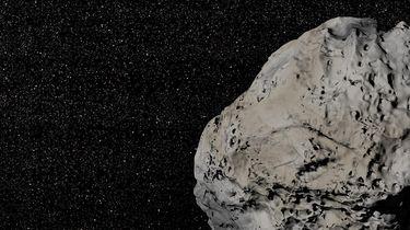 Op deze tekening zie een asteroïde afgebeeld