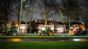 Vier boeren aangehouden tijdens protest in Den Haag