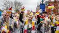 Een foto van carnavalsvierders.