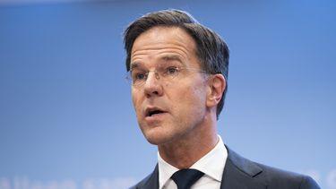Een foto van premier Mark Rutte