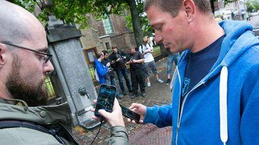 Sinds 2014 wordt Ingress in ons land gespeeld, de voorloper op Pokémon Go. Foto: Vincent van Dordrecht