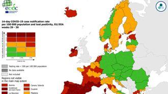 De Europese Coronakaart