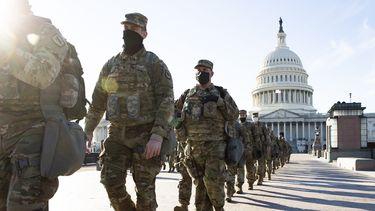 Leden van de National Guard bij het Capitool.