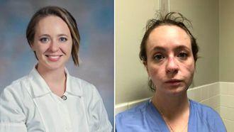 Verpleegster Kathryn deelt een foto van acht maanden geleden en nu: 'Dit is nu de realiteit'