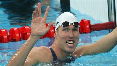 Een foto van zwemmer Klete Keller.