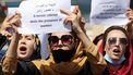 vrouwenprotest tegen taliban, vrouwenrechten, afghanistan