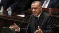 Op deze foto is de Turkse president Erdogan te zien.