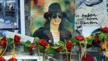 Een gedenkplaats voor Michael Jackson.