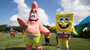 Foto van beste vrienden SpongeBob en Patrick