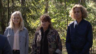 Ricky, Renéé en Charlotte tijdens een na laatste aflevering wie is de mol
