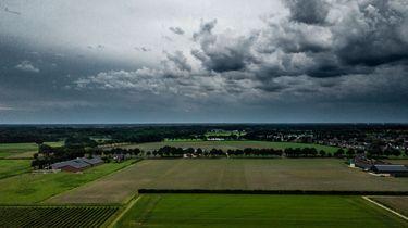 Foto van naderende onweersbui
