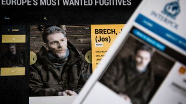De 55-jarige Jos Brech, de moordverdachte van Nicky Verstappen, op de internationale Most Wanted lijst van Interpol en Nationale Opsporingslijst van de politie. Foto: ANP