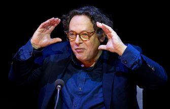 Ruut Weissman tijdens de perspresentatie van DeLaMar Producties. Foto: ANP | Koen van Weel
