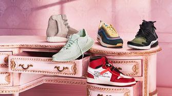 Foto van vijf iconische sneakerparen