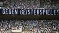 Borussia Mönchengladbach vult stadion met kartonnen fans.