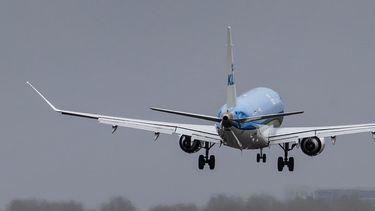 Een foto van een KLM-toestel.