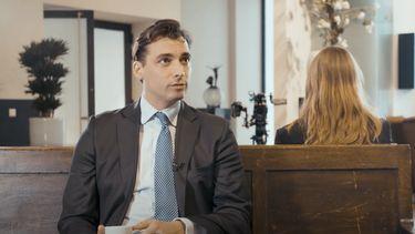 Thierry Baudet en Emma Wortelboer tijdens De Vooravond.