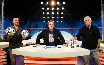 Een foto van Frank Evenblij met Rob Urgert en Joep van Deudekom