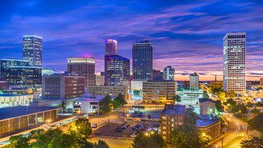 Op de foto zie je de Amerikaanse stad Tulsa