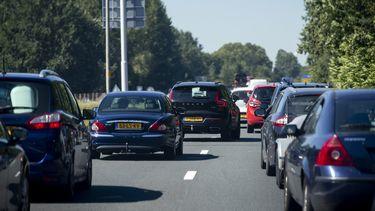 Foto van drukte op de snelweg