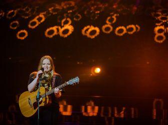 Een foto van Sophia die optreedt bij The Voice