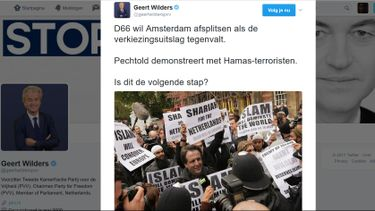 Wilders opent aanval op D66 met nepfoto Pechtold