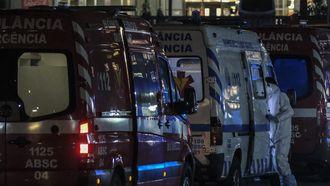 Ambulances in Portugal bij een ziekenhuis