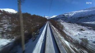 Screenshot uit de 7-uur durende treinrit tussen Bergen en Oslo, ofwel Slow tv