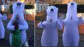 Grootouders knuffelen sinds maart kleinkinderen dankzij ijsbeerkostuum