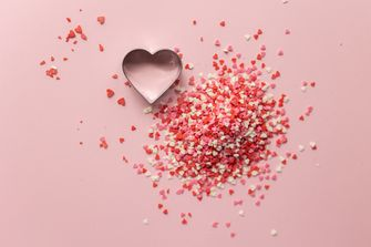 Een foto van een hartje op Valentijnsdag