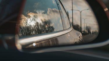 Een autospiegel