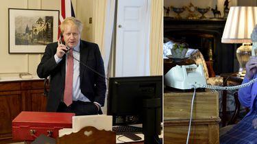 Van corona herstellende Boris Johnson ontmoet jarige Queen